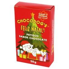 1033 - PETISCOS DE NATAL SABOR CHOCOLATE 50 G
