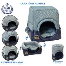 6044-2 - CAMA TUNEL FLORENCE GG AZ 56X56X60CM